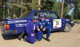 Emil Andersson och Kim Raséus dammade av sin gamla pärla och tog direkt en seger i högsta Elitklassen. Foto: Roger Fransson